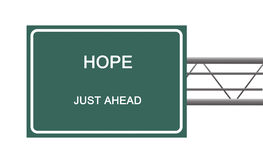 Road sign to hope Royalty Free Stock Photo