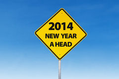 Road sign to new year Royalty Free Stock Photography