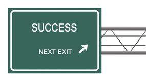 Road sign to  success Stock Photos