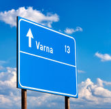 Road sign to Varna Stock Photos
