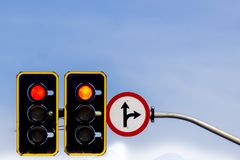 Road sign and traffic sign stock photography