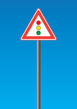 Road sign - traffic light Stock Photos