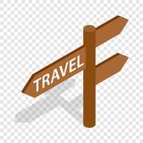 Road sign for travelers isometric icon Stock Image
