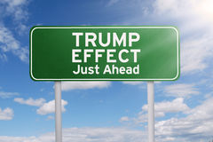 Road sign with Trump Effect word Royalty Free Stock Photo