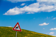 Road sign in Tuscany, Italy Royalty Free Stock Photography