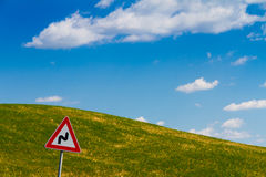 Road sign in Tuscany, Italy Stock Photography