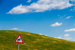 Road sign in Tuscany, Italy Royalty Free Stock Image