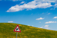 Road sign in Tuscany, Italy Royalty Free Stock Images