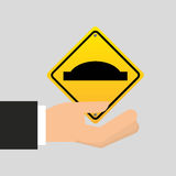 Road sign uneven icon design. Vector illustration eps 10 royalty free illustration