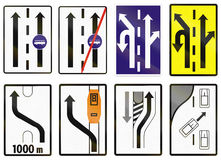 Road sign used in Slovakia - Lane for buses Royalty Free Stock Photos
