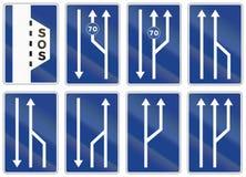 Road sign used in Spain - Breakdown bay Royalty Free Stock Images