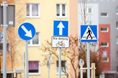 Road sign warning Stock Images