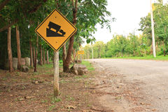 Road Sign. Road sign warning downhill use low gear Royalty Free Stock Image
