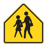 Road Sign Warning - School vector illustration