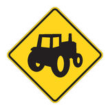 Road Sign Warning - Truck Cros Royalty Free Stock Photo