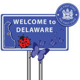 Road sign Welcome to Delaware Stock Photos
