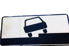 Road sign. Which refers to the way setting a vehicle on the parking lot Royalty Free Stock Images