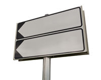 Road sign on a white background. Stock Images