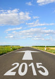 2015 road sign Royalty Free Stock Photo