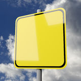 Road sign yellow blank Royalty Free Stock Photo
