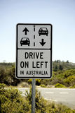 Road signage, drive left in Australia, Stock Images