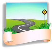 A road with a signage Stock Images