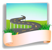 A road with a signage Royalty Free Stock Images