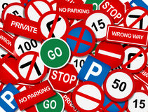 Road signage overlap Royalty Free Stock Photography