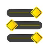 Road signal. Driving signal in different directions vector illustration