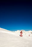 Road signal buried by the snow Royalty Free Stock Images