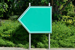 Road signpost, green, blank. Road signpost - ready to write something on it Stock Images