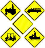 Road Signs Stock Illustration