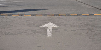 Road signs. Speed bumps and traffic sign - Moving Forward royalty free stock photography