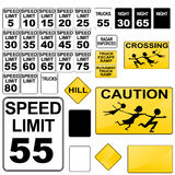 Road Signs. An image of a variety of road signs vector illustration