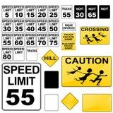 Road Signs vector illustration