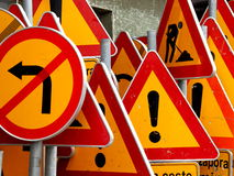 Road signs ! Stock Image