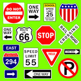 Road signs Royalty Free Stock Images