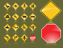 Road Signs. Vector illsustration background Royalty Free Stock Photos