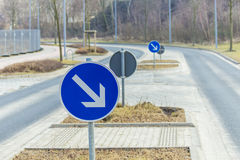 Road signs accompany us Stock Images