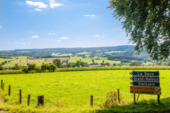 Road Signs in the Ardennes Stock Images