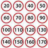 Road signs ban speed. Raster Royalty Free Stock Photography