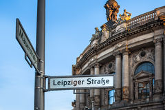 Road signs in Berlin Germany stock photos
