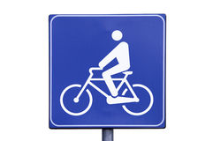 Bicycle path. Road sign Stock Photography