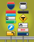 Road signs board. Stock Images