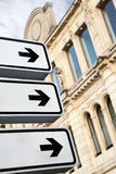 Road signs in the city Royalty Free Stock Photography