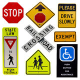 Road signs collection. Highway sign collection isolated over white background stock illustration