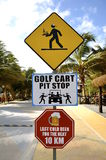 Road signs in Costa Maya