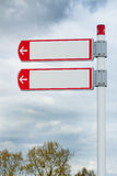 Road signs direction Royalty Free Stock Images