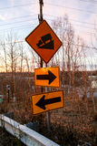 Road signs directions Royalty Free Stock Photography