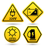 Road signs eco drive. eco friendly icon. Royalty Free Stock Photo